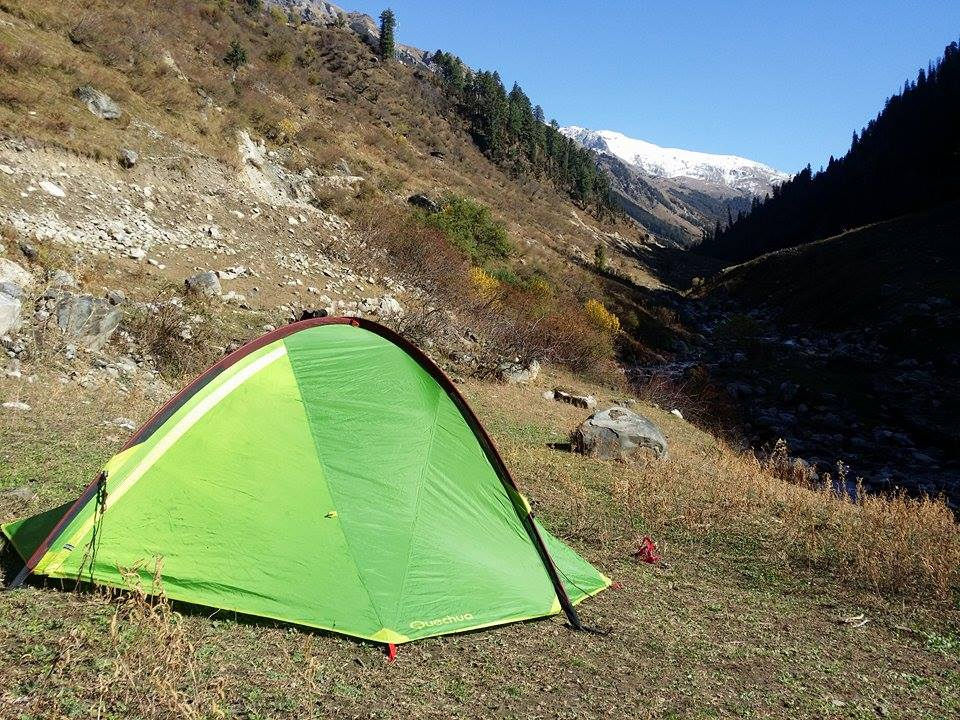 Camp on at Base of Magic Valley